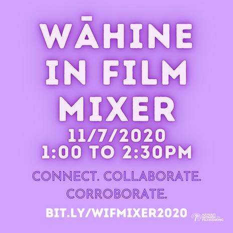 Wāhine in Film Mixer 2020