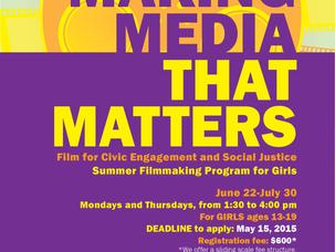 2015 Making Media That Matters {Summer} registration open!