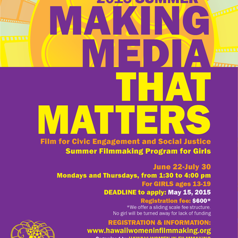2015 Making Media That Matters {Summer} registration open!