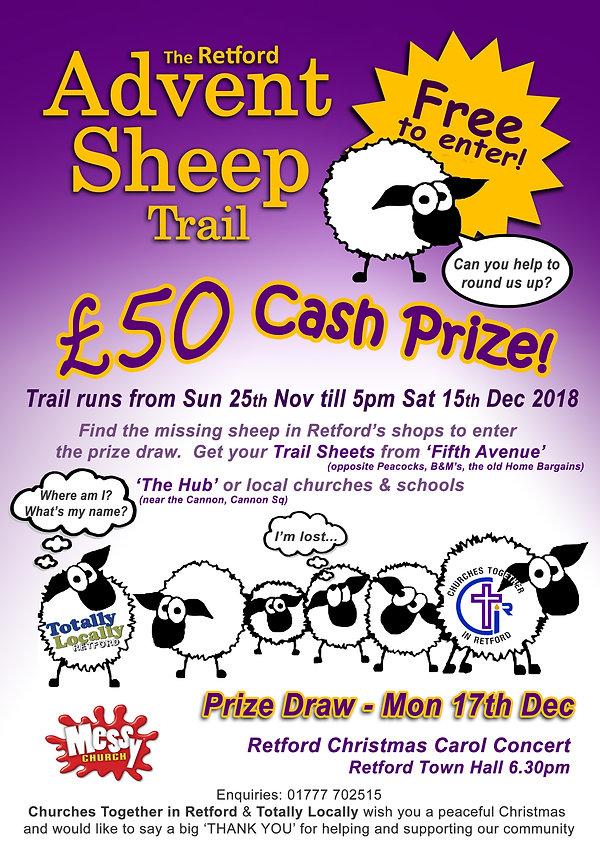 Advent sheep trail poster Messy Church 2