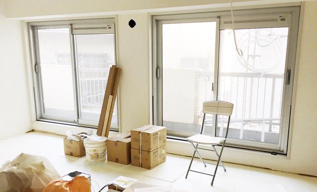 第2スタジオ内装工事の進捗状況