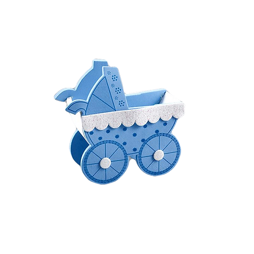 Baby Shower Centerpieces Baby Carriages Foam Treat Box.