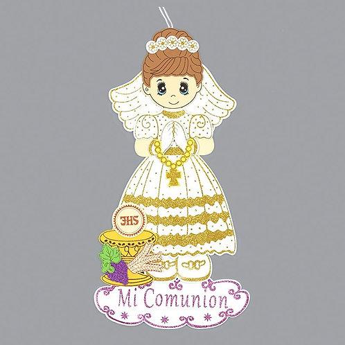 First Communion Banner-Chalice Foam Cutouts Girl-XL