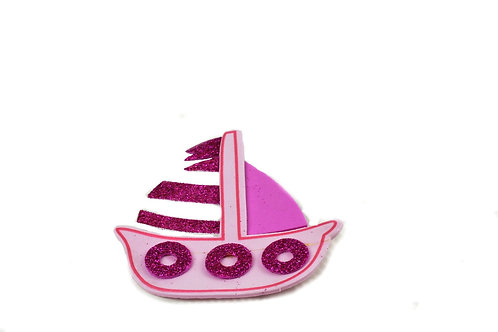 Pink Nautical Baby Shower Favors-Sailboat Cutouts Foam