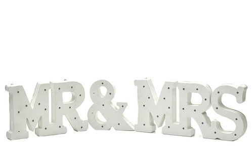 Wood Marquee Letters-MR and MRS