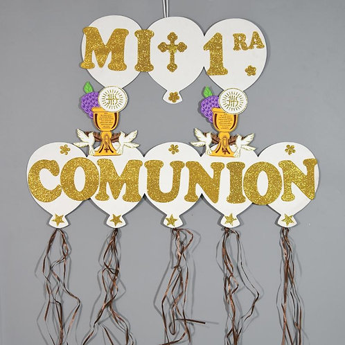 First Communion Banner-Caliz Christening Wall Hanging Banner.