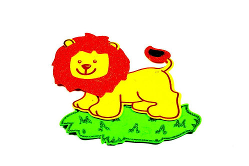 Baby Shower Banner-Lion Foam Safari Theme Party Banner