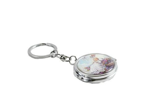 Mirror Keychain-Baptism Favors-Baby Angel