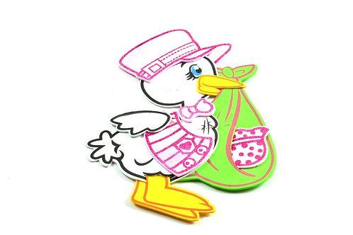 Pink Baby Shower Centerpieces Stork Foam Figuring