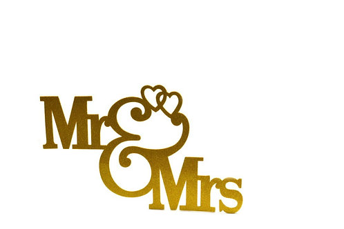 Wedding Banner-Mr and Mrs Banner Foam Cutouts