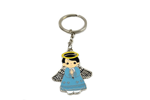 Baptism Party Favors Keychain Angel Figure with gift box