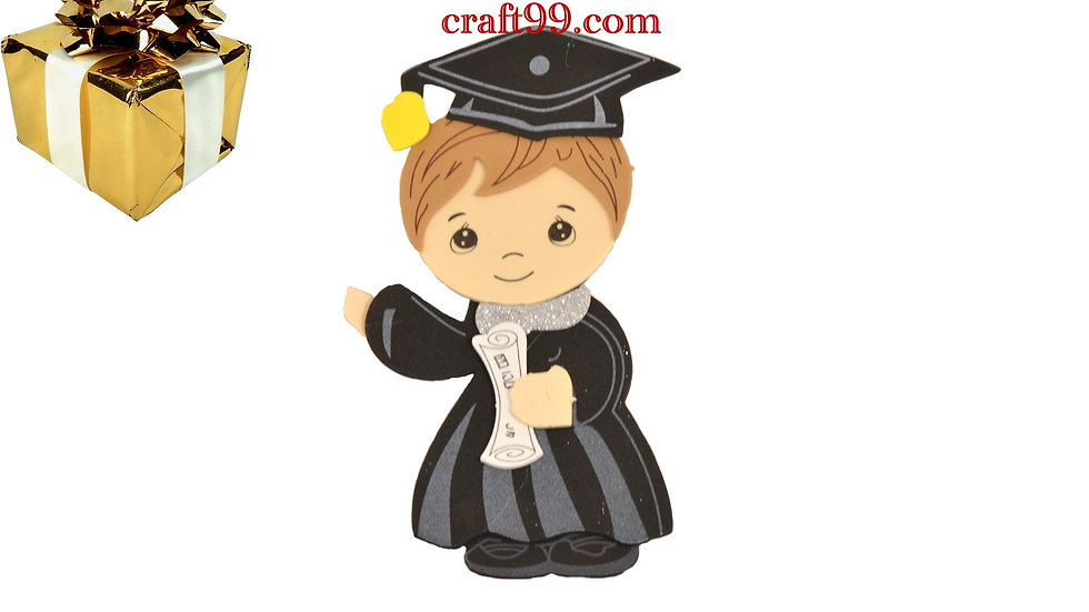 Boy Graduation Centerpieces-Large Graduation Cap and Gown