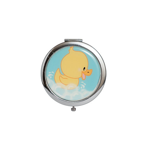 Blue Mirror compact gifts-Baby Shower Favors-Duck Design.