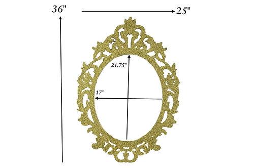 Oval Picture Frames Fancy wood Laser Cut Oval Photo Frames Large