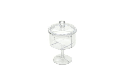 Plastic Candy Jar-Clear Plastic Gift Box With Lid.
