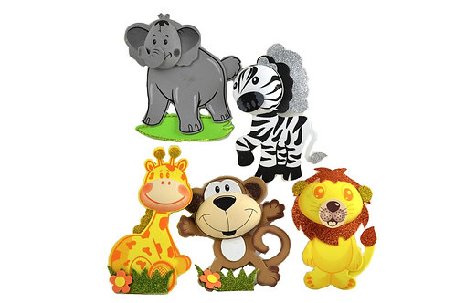 Jungle Baby Shower-3D Safari Animals Foam Decorations