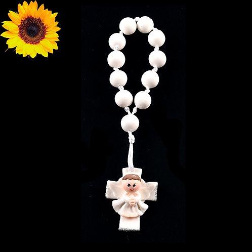 Baptism Rosary Favors-Boy Cold Porcelain Baptism Favors