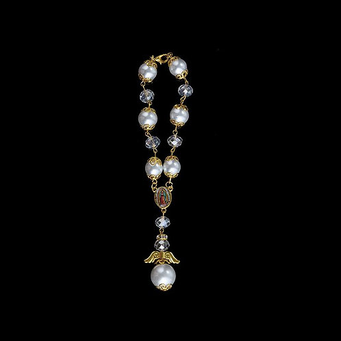 Pearl Rosary Bracelet-Our Lady Guadalupe-Party Favors