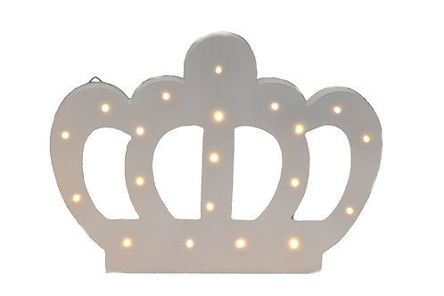 Light Up Wooden Crown-Party Decorations