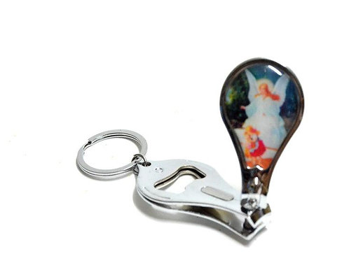 Baptism Favors-Guardian Angle Baptism Bottle Opener Nail Clippers