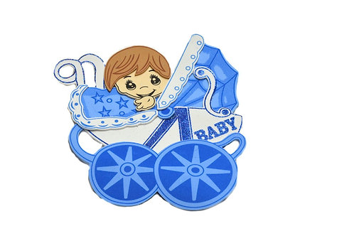 Blue Baby Shower Centerpieces Baby Carriages