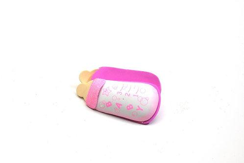 Pink Baby Shower Party Favors 3D Milk Bottle Foam Glitter