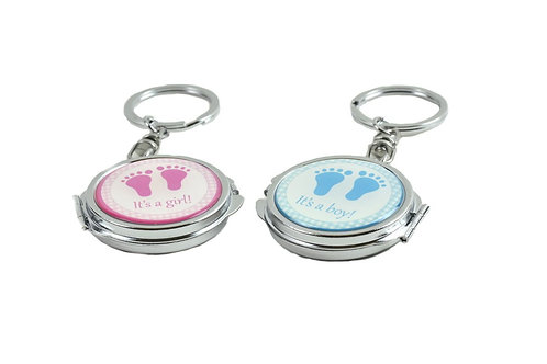 Mirror Keychain-Baby Shower Favors-Baby Foot Figure