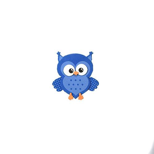 Blue owl foam baby shower favors