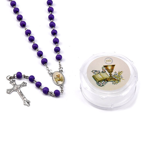 Rosary First Communion-Scented Rosaries-Decorative Gift Box.