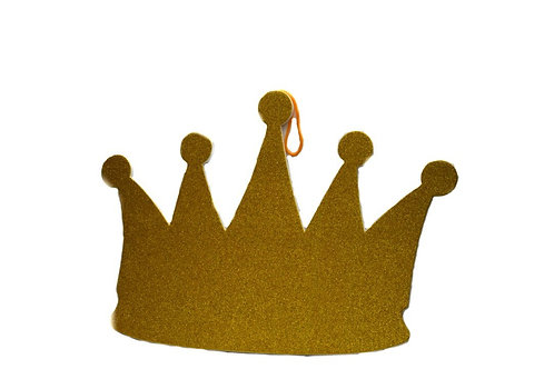 Baby Shower Party Favors-Glitter Foam Prince Crown. M