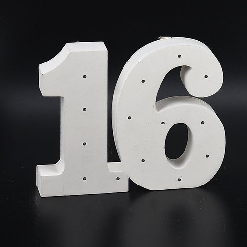 Light Up Numbers 16-Sweet 16 Decorations.