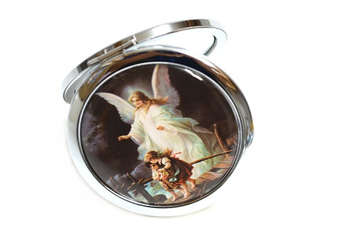 Mirror Compact Gifts-Baptism Party Favors-Guardian Angel Design