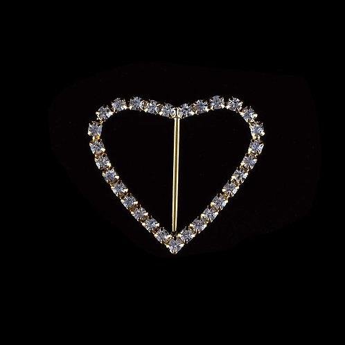 Rhinestone Buckle-Rhinestone Heart Buckle-PK 51