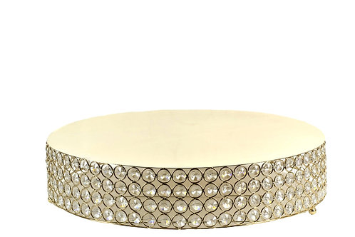 Gold Wedding Cake Stand-Round Cake Stand Risers-18 Inches