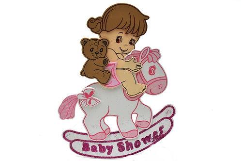 Pink Baby Shower Centerpieces Rocking Horse Foam Figure