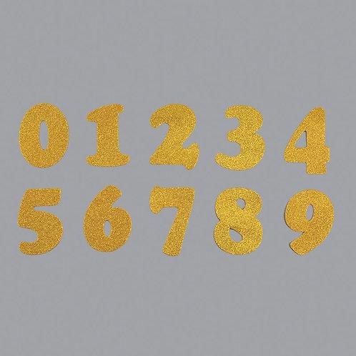 Foam Number Glitter Gold