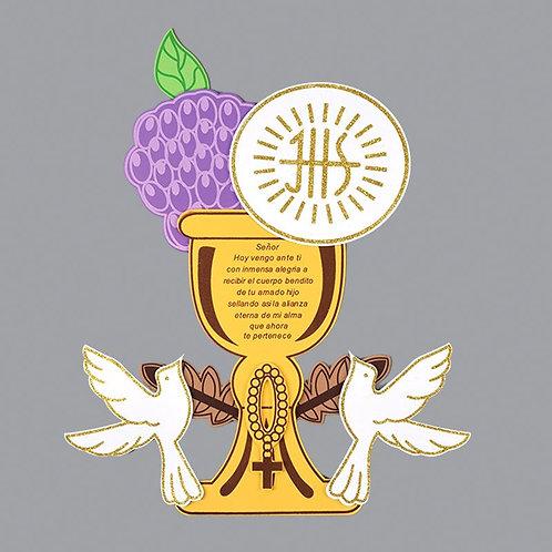 First Communion Banner-Chalice Dove Foam Cutouts-XL