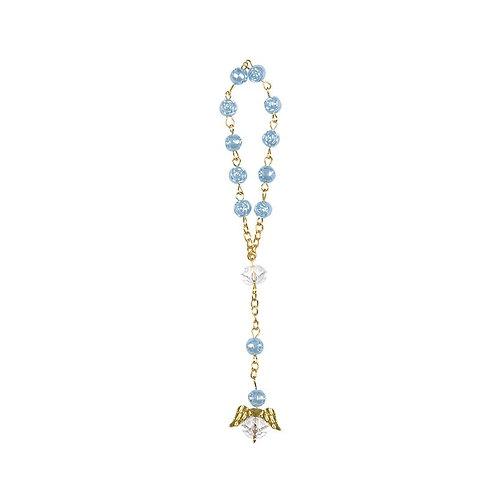 Wrist Rosary-Crystal Rosary Bracelet-Blue