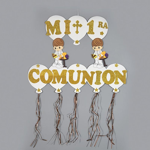 First Communion Banner-Christening Wall Hanging Banner.