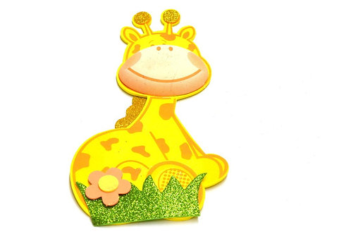 Yellow Baby Shower Party Favors Giraffe 3D Foam