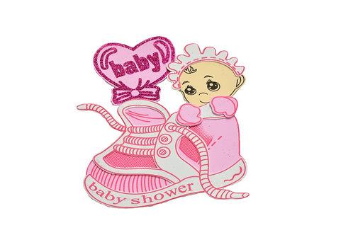 Pink Baby Shower Centerpieces Baby Sneaker Foam Figuring