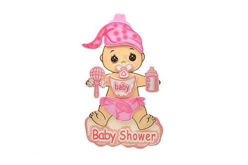 Pink Baby Shower Centerpieces Pacifier Foam Figure.