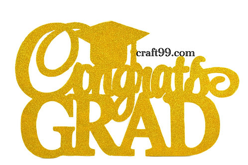 Congrats Grad Banner Wall Decorations Cutouts-XL