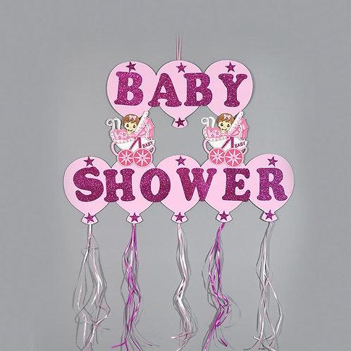 Baby Shower Banner Design Glitter Foam Baby Carriages