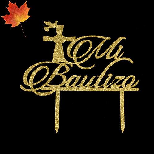 Baptism Cake Topper-Mi Bautizo Cake Topper