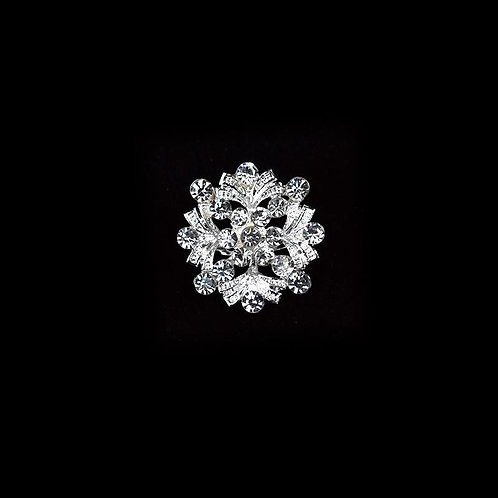 Silver Rhinestone Brooches For Crafts