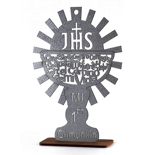First Communion Centerpieces-Chalice Laser Cut Wood Communion