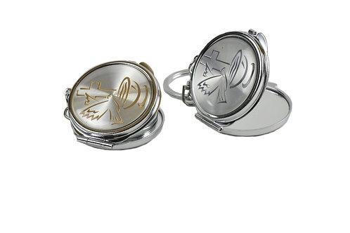 Mirror Keychain-Bautizo Favors-Holy Spirit Makeup Mirror