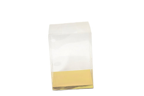 Gold Clear Plastic Box-Clear Boxes For Gifts