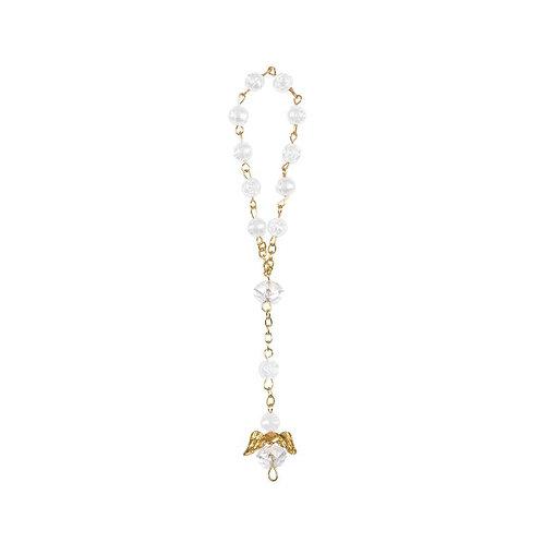 Crystal Rosary Bracelet White